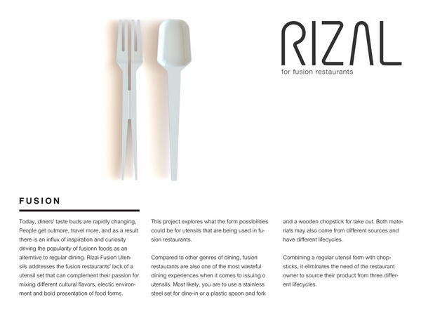 Rizal Utensils for Fusion Restaurants
